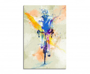 Cycling Sports Picture Wall VI 90x60 cm Watercolour Art Colours by Paul Sinus
