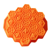Vzer 19 Cavity Flexible Honeycomb Cake Moulds for Kids Silicone Baking Cake Chocolate Mould Bakeware
