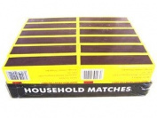 GSD Household (Large) Safety Matches . Clipper x 12 Packs of 250