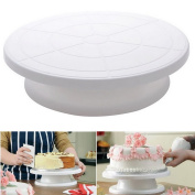 OUNONA Cake Turntable Decorating Turntable Stand Revolving Cake Stand Baking Tool