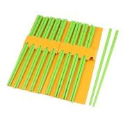 Water & Wood 10 Pairs Kitchen Dishware Nonslip Plastic Chopsticks Green