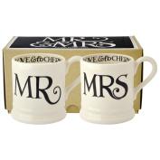 Emma Bridgewater - Black Toast Mr & Mrs 2 x 1/2 Pint Mugs
