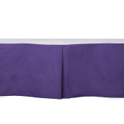 Bacati - Solid Cotton Crib Skirt 100% Cotton Percale with 33cm drop for US Standard Crib