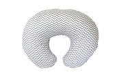 Premium Quality Nursing Pillow Cover by Mila Millie - Grey Chevron Unisex Design Slipcover - 100% Cotton Hypoallergenic - Great for Breastfeeding Mothers - Perfect Baby Shower Gift