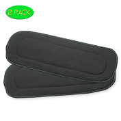 5 Layer Charcoal Bamboo Cloth Nappy Inserts Washable Liners