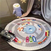 Hever Kids Cotton Round Rug Baby Play Mat and Toy Organiser Storage 15140cm