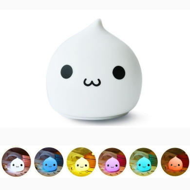 KssFire Mini Night Lamp Children's Silicone LED Multi-colour Night Light AAA Battery Powered Sensitive Tap Control Baby Nursery Lamp for Baby Bedroom, Christmas Gift, Decorative Lamp (Colour 2)