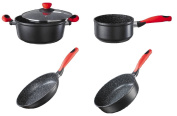 Style'n Cook Pot Set Rockpearl Fire 4 pieces Inducción
