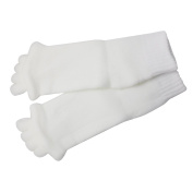 Homgaty White Comfy Toes Foot Five Toe Separator Socks Foot Alignment Pain Relief