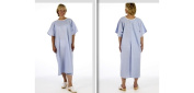 Pullover Blue Examination X-ray gown open back no ties or fastenings