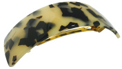 French Amie Curved Large White Tokyo Handmade Strong Grip Celluloid Automatic Hair Clip Barrette