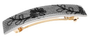France Luxe Classic Rectangle Barrette - Annette Lace Black