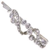 Various Design Faux Crystal Rhinestone Hair Barrette Clip Pin Grip Accessory
