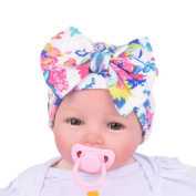 Fullkang Newborn Hospital Hat Newborn Baby Hats With Flower Bowknot Flower