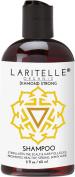 Laritelle Organic Travel Size Shampoo 60ml | Hair Loss Prevention, Strengthening, Follicle Stimulating | Argan, Rosemary, Lemongrass, Ginger & Cedarwood | NO GMO, Sulphate, Alcohol, Paraben, Phthalate
