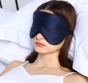 Adbama Silk Sleep Mask with Adjustable Strap - Navy Blue