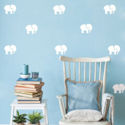 DIY Small Elephant Wall Sticker Decal for Children Nursery Room - White