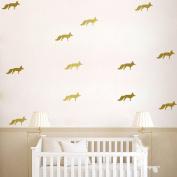 DIY Small Fox Wall Sticker Decal for Children Nursery Room - Golden