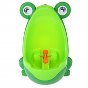 Frog Kids Potty Toilet Training BINGONE Cartoon Urinal For Toddler Boys Pee Trainer with Windmill Aiming Target Green