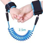 Anti-lost Wrist, Dlife Toddler Reins Safety Wrist Link 2.5m Adjustable Wrist Link Walking Hand Belt for Children Kids Walking