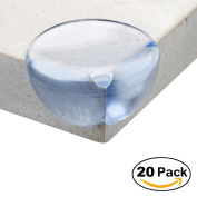 ATA® Safety Corner Protectors Guards - (20 pcs, Large, Transparent) - Table Worktop Corner Cushions for Child and Baby - Keeps children safe from injury around the house!