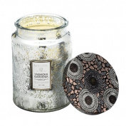 Voluspa Yashioka Gardenia Large Embossed Glass Jar Candle 470ml