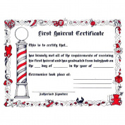 Kid's First Haircut Certificates
