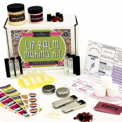 DIY Lip Balm Kit, Filling Tray Included! - (73-Piece Set) Homemade, Natural and Organic   Includes Tubes, Beeswax Pouch, Essential Oils, Labels, Stir Sticks & More