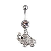 Jocestsyle 1 Pcs Women Girls Artificial Crystal Dangle Belly Button Ring Bar Ring Body Piercing Gift