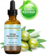 SQUALANE Italian. 100% Pure / Natural / Undiluted Oil. 100% Ultra-Pure Moisturiser for Face , Body & Hair. Reliable 24/7 skincare protection. 0.5 fl.oz- 15 ml. by Botanical Beauty.