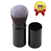 AUSKY Pro Cosmetic Beauty Makeup Minerals Powder Brush Travel Retractable Kabuki Brush,Foudation Blush Brush Cosmetic Tool