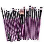 Makeup Brush Set,Neartime 20 pcs Beauty Tool Toiletry Kit Wool Make Up Brush Set