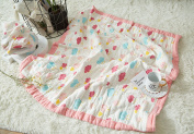J-pinno Baby Nursery Muslin Cotton Bed Quilt Blanket Crib Coverlet 110cm X 110cm