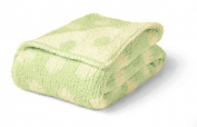 Monogrammed Personalised Colorado Clothing - Chunky Chenille Polka Dot Baby Blanket