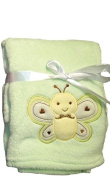 Snugly Baby Plush Blanket Yellow ( Love Bug ) With Butterfly