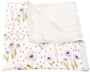 Little Unicorn Deluxe Muslin Blanket Quilt - Blue Windflower