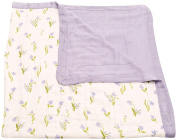 Little Unicorn Deluxe Muslin Blanket Quilt - Light Blue