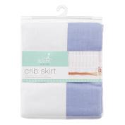aden by aden + anais crib skirt, brunnera blue solid