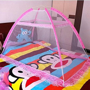 Pop Up Easy Instal Baby Insect Mesh Cover for Bed, Foldable Mosquito Net Tent Bottomless with Carrying Bag