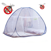 DmsBanga 2017 New Camping Most Popular Anti Mosquito Net for Bed Pop Up Nursery Guard Tent Folding Bottom Moustiquaire Canopy Zipper Baby Toddlers Kids Adult Travel Outdoor
