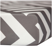 Oilo Zara Crib Sheet, Pewter