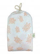 Fitted Crib Sheet in GOTS-Certified Soft Organic Cotton for Baby or Toddler, Turtle Print