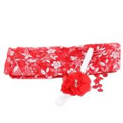 TRENDINAO Newborn Baby Boys Girls Cute Red Photo Props Quilt Blanket + Headband