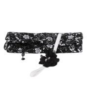 TRENDINAO Newborn Baby Boys Girls Cute Black Photo Props Quilt Blanket + Headband