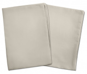 2 Light Grey Toddler Pillowcases - Envelope Style - For Pillows Sized 13x18 and 14x19 - 100% Cotton With Percale Weave - Machine Washable - 2 Pack