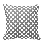 BebeChicCanada 100% Premium Cotton Grey and White Spotty Pillow Cushion Cover