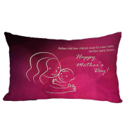 Pillow Case,TOPUNDER Mother's Day Rectangle Sofa Bed Decoration Cushion Cover E