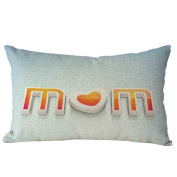 Pillow Case,TOPUNDER Mother's Day Rectangle Sofa Bed Decoration Cushion Cover B