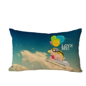 Pillow Case,TOPUNDER Cute Rectangle Sofa Bed Decoration Festival Cushion Cover B