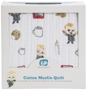 Little Unicorn Boss Baby Cotton Muslin Quilt - Cookies are for Closers, Multi